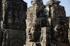 Free Bayon Face, Cambodia Royalty Free Stock Image - 18113396
