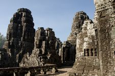 Free Bayon Face, Cambodia Royalty Free Stock Photo - 18113565