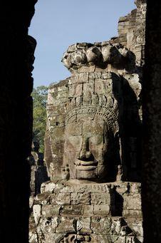 Free Bayon Face, Cambodia Royalty Free Stock Image - 18113726