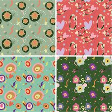 Free Seamless Flower Pattern Stock Image - 18113821