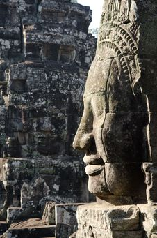 Free Bayon Face, Cambodia Stock Images - 18113824