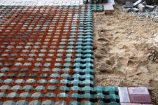 Free Tile Laying Site Royalty Free Stock Photos - 18114988
