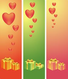 Free Hearts And Presents Royalty Free Stock Photos - 18115518