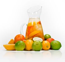 Citrus Drink Pitcher Stock Photos