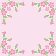 Free Flower Frame On Pink Background Royalty Free Stock Image - 18115746