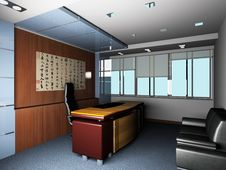 Free Rendering Modern Office Stock Image - 18115791