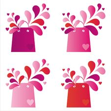 Free St. Valentine S Day Shopping Bags Stock Image - 18116201