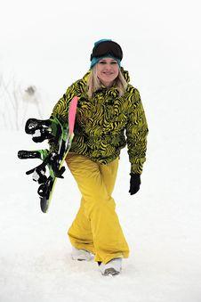 Free Snowboard Girl Royalty Free Stock Photo - 18116425