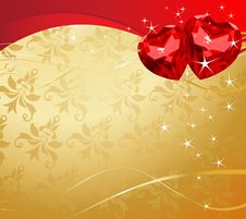 Free Valentine Ruby Hearts Stock Images - 18116594