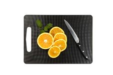 Free Cutting Board With Oranges And Mint Royalty Free Stock Images - 18118419