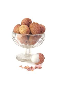 Lychees In Vase Royalty Free Stock Image