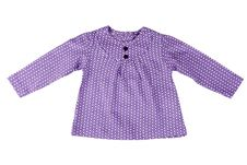 Free Junior Purple Spotted Dress Royalty Free Stock Photography - 18119377
