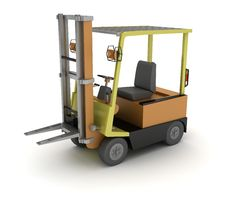 Free Forklift Royalty Free Stock Photography - 18119417