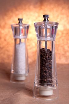 Salt And Pepper Grinders Stock Photo