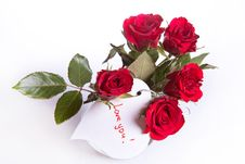 Free Red Roses With White Heart Stock Images - 18119514