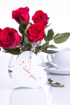 Free Red Roses With White Heart Stock Image - 18119521