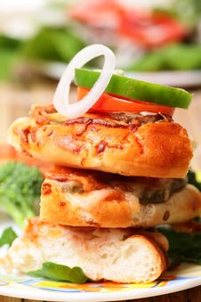 Cheese Bread Slices Stock Photo