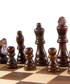 Free Chess Figures Isolated On White Stock Images - 18119774