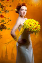Free Bride With A Bouquet Of Flowers Royalty Free Stock Image - 18120706
