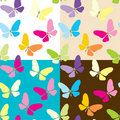 Free Four Background With Butterflies Royalty Free Stock Photography - 18126007