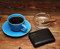 Free Coffee, Cigars And Purse Royalty Free Stock Image - 18126116