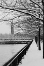 Free Hoboken Train Terminal On A Snowy Day Royalty Free Stock Images - 18128469