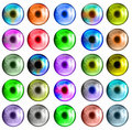 Free Colorful Eye Set Royalty Free Stock Image - 18129776