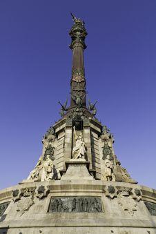 Monument Of Christopher Columbus Stock Photos