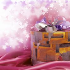 Free Box With A Gift Royalty Free Stock Photo - 18120195