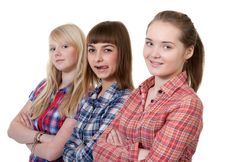Free Three Young Beautiful Girlfriends Stock Images - 18120294