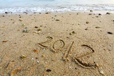 Free 2012 On Sand Royalty Free Stock Photography - 18120487