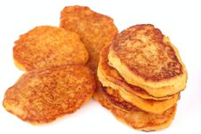 Free Homemade Fried Pumpkin Pancakes For Breakfast Isol Stock Photo - 18120560