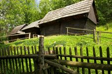Free Traditional Slovakian Timber Houses Royalty Free Stock Photography - 18120717