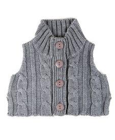Free Grey Knitted Waistcoat Royalty Free Stock Photography - 18120917