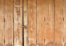 Free Old Wooden Door Royalty Free Stock Image - 18121146