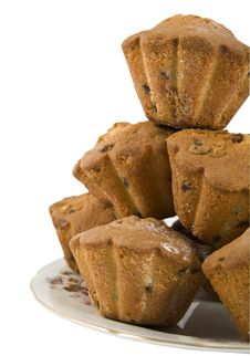 Free Cakes With A Raisins Are Laid Out By A Hill Stock Photos - 18121603