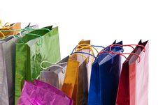 Free Colourful Shop Bags. Stock Photos - 18122203