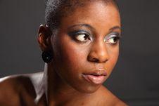 Free Landscape Headshot Of Beautiful Black Woman Royalty Free Stock Image - 18122566