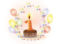 Free First Birthday Royalty Free Stock Images - 18122619