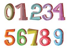 Numbers Set Stock Image