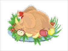 Turkey Cook Royalty Free Stock Photography