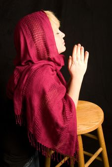 Free Woman Praying In Private Stock Image - 18122941