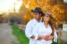 Cowboy And His Cowgirl Stock Photo