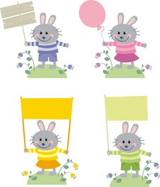 Free Hares Royalty Free Stock Photos - 18123568