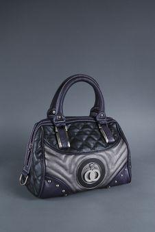 Free Dark Blue Women Bag Royalty Free Stock Photos - 18123688