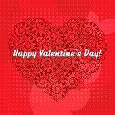 Free Valentines Day Card. Vector Stock Photo - 18123720