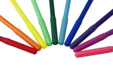 Felt-tip Pens Royalty Free Stock Images