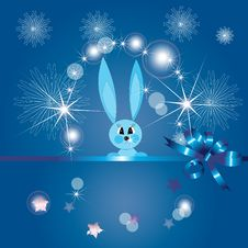 Free Blue Rabbit Royalty Free Stock Image - 18124486