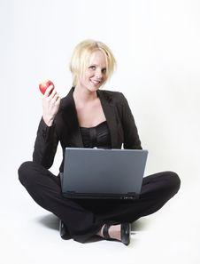 Free Businesswoman Sitting Stock Image - 18124671
