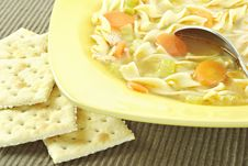 Free Homemade Chicken Noodle Soup Royalty Free Stock Photo - 18124885